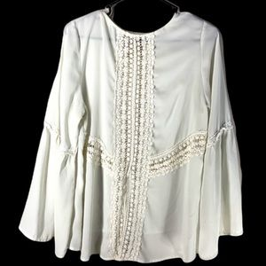 Bohemian Sheer blouse by Entro, Embroidered Lace
